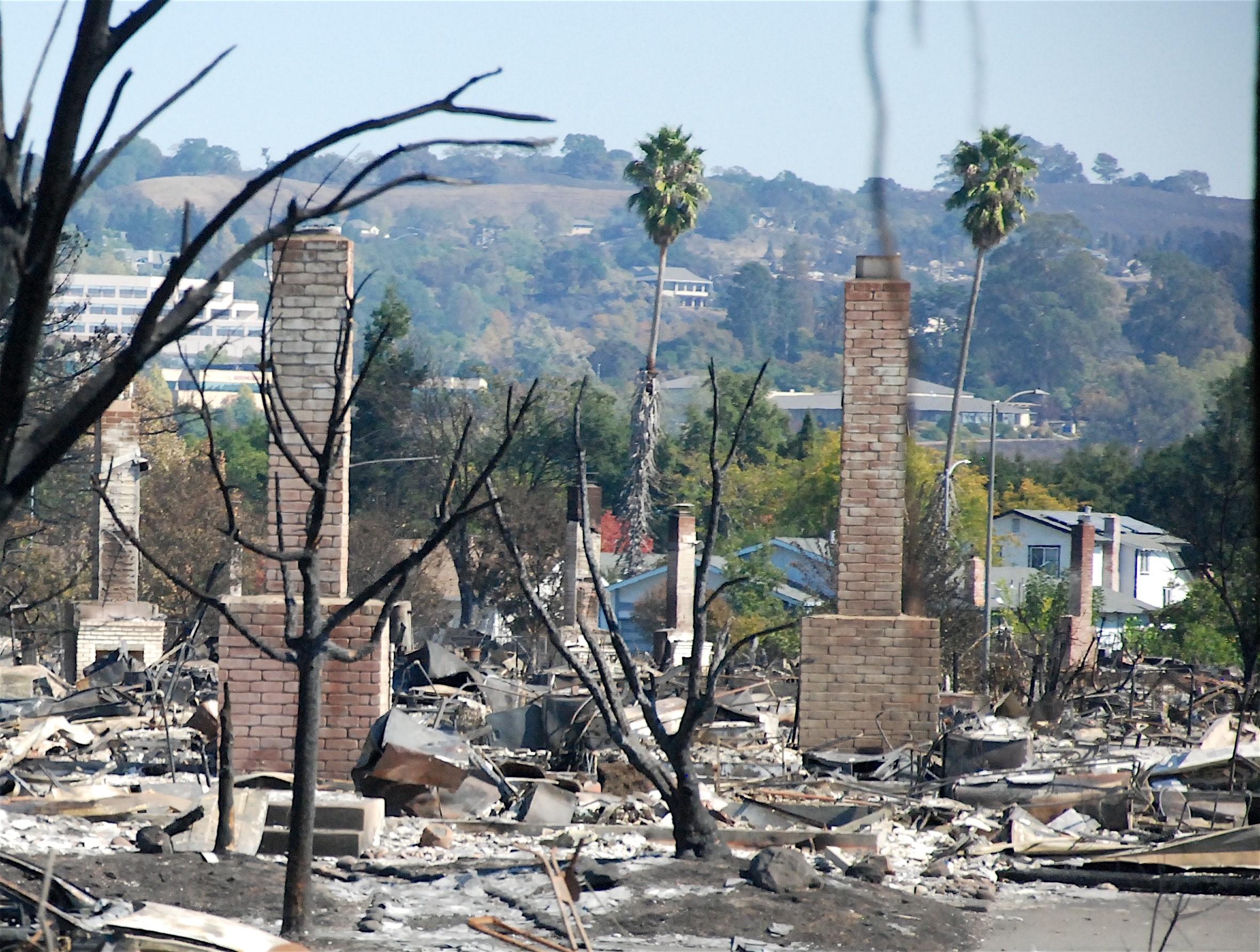 Santa Rosa neighborhood devastated by fire